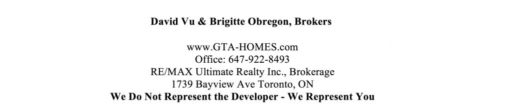 Peter & Adelaide Condo Sales Agents Contact Info